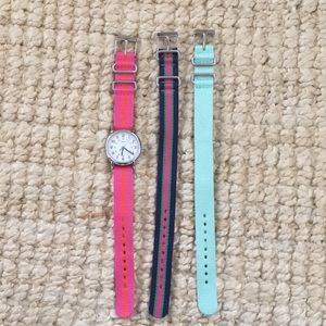 Timex watch and interchangeable bands